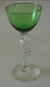 Cambridge Statuesque #3111 Cocktail Stem, Forest Green