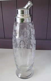 Cambridge ROSE POINT P98 48 oz Cocktail Shaker Crystal
