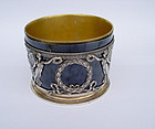 Antique French Limoges silver mounted  bowl