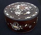 Antique Vietnamese mother-of-pearl inlay dowry box