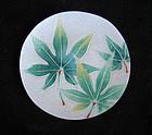 A Japanese Ando enamel plate