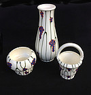 Set of three Dux vases /bowls , c1930