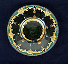 Enamelled & gilt glass dish, probably by Moser, late 19th c