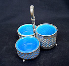 Opaline & silver plated cruet set, Sweden and France