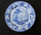 Pair of Wedgwood Blue rose border plates