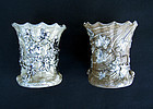 Early Villeroy & Boch Mettlach silver lustre vases
