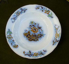 Antique English flow blue Davenport plate