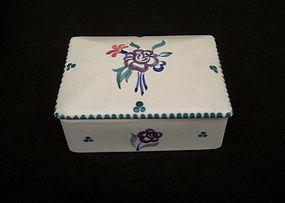 English Poole Pottery lidded box