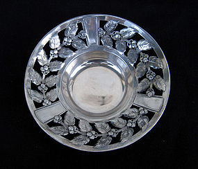 German Jugendstil silver plated pewter bowl by Kayser