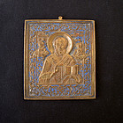 Russian Icon of St Nicholaus, 19th century