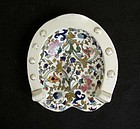 Hungarian Majolica dish by J Fischer, Pest, late 19th c