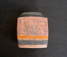 English Troika St Ives vase or marmalade pot