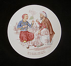 French wall dish with a coffee  joke, c 1900