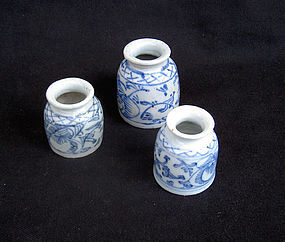 Chinese blue and white medicine jars