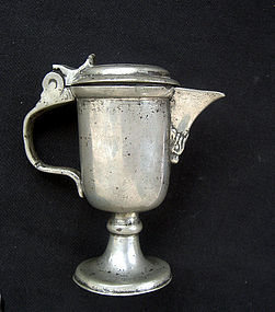 Miniature pewter jug, 18th century