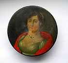 Antique German papier maché and lacquered snuff box