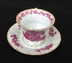 German transfer printed cup and saucer, c. 1840-50