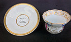 German cup and saucer, a birthday gift 1837