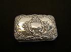 Victorian sterling silver cigarette case