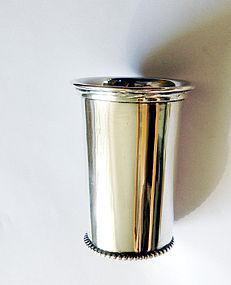 Dutch Déco sterling silver beaker or vase
