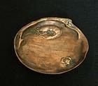 French Art Nouveau bronze vide poche or dish