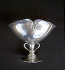 Danish Déco footed pewter bowl, c 1930