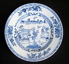 Chinese blue and white Kangxi plate