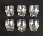 Set of 6 Anglo Irish Georgian cut tumblers /rummers, c 1820