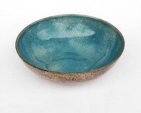 Dish by Paolo de Poli, enamel on copper, 1950�s