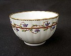 English Derby tea bowl, 18th century