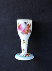 Bohemian 18th century Milchglas / milk glass miniature wine glass