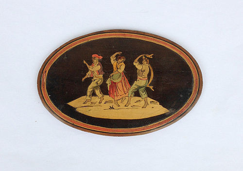 Italian Sorrento ware marquetry plaque