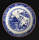 Blue and white bowl, Qianlong