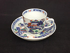 Chinese export cup and saucer, Qianlong  c 1750