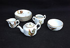 Russian Imperial part toy tea service by Gardner / Kuznetsov, c 1900