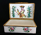 The Seven Years� War: political propaganda enamel box, c 1760