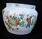 Chinese Export jar in the Hundred Boys pattern
