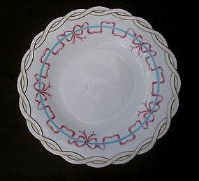 English porcelain small plate, Victorian