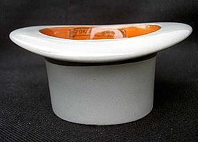 Novelty top hat bowl, a gift from a London hat maker