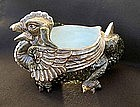 Bohemian Majolica Dragon candy bowl