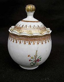 Chinese Export pot de creme or custard cup
