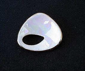 Pale palette vintage ceramic brooch