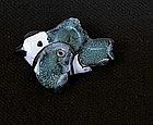 Pied fly catcher ceramic pin