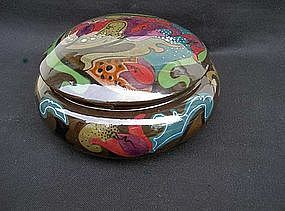 Dutch Gouda lidded bowl, 1920's