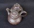 Yixing miniature double teapot