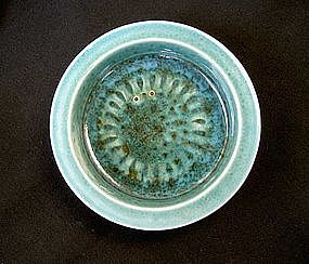 Poole Pottery Studio ware bowl with a sea urchin