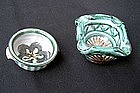Two mini bowls by Picault, Vallauris