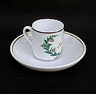 Miniature coffee can and saucer