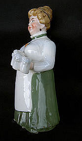 Figurine of a German Bierstube waitress