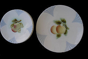 Majolica or Barbotine fruit plates and dish